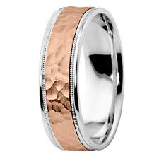 wedding band ring hammered 14k white gold wedding band ring