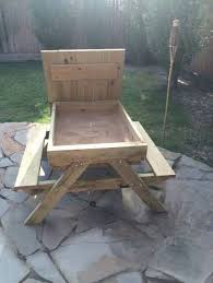 Designs For Wooden Picnic Tables by Best 25 Kids Outdoor Furniture Ideas On Pinterest Pallet