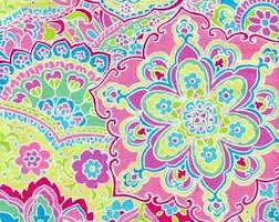 pink paisley fabric etsy