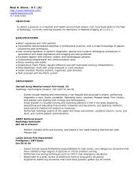 Army Resume Example by Download Radiologic Technologist Resume Haadyaooverbayresort Com