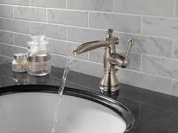 open spout bathroom faucet delta faucet 598lf pnmpu cassidy single handle single hole