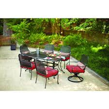 Patio Furniture 7 Piece Dining Set - patio hampton bay fall river 7 piece patio dining set home