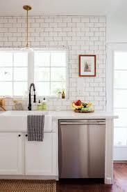 kitchen backsplash white farm sink farmhouse countertops country