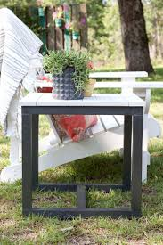 Outdoor Side Table Ideas by Diy Outdoor Side Table Pottery Barn Knockoff Homemade Coffee Knock