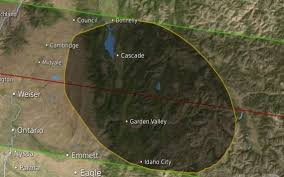 Map Of Idaho Cities Where And How To View The Total Solar Eclipse As It Crosses Idaho