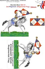Cavalry Flag Napoleonic Wars French Cavalry 005 14 Carabiners 4th Heavy