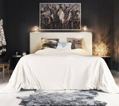 Black And White Rustic Bedroom Bedroom Rustic Craftsman Bedroom Features Wooden Platform Bed With