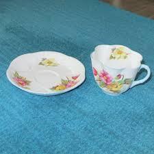 shelley england fine bone china teacup u0026 saucer begonia dainty