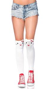 knee high socks kitten socks socks with cats cat socks