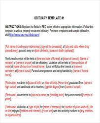 funeral obituary templates 34 sle obituary