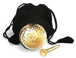 gold dipped 24 karat gold dipped golf and set display only