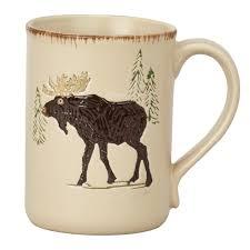 amazon com dei woodland moose stoneware mug 12 ounce home u0026 kitchen