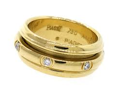 piaget ring ring by piaget 18k yellow gold and diamonds spinning rolling