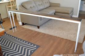 sofa console table long behind sofa table dosgildas com