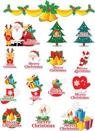 cartoon christmas labels vector free stock vector art
