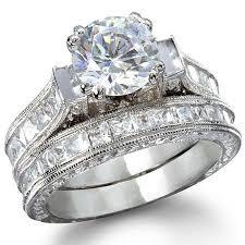 platinum wedding ring sets s princess shape platinum finish wedding ring set