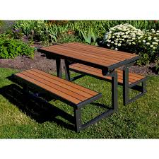 Diy Collapsible Picnic Table by Lifetime Products Wood Grain Convertible Folding Picnic Table