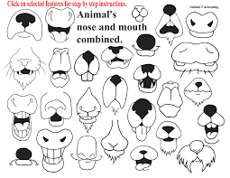 cartoon animal noses