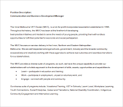 10 business development job description templates u2013 free sample