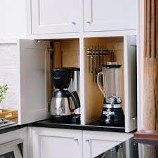 kitchen appliance storage cabinet keep small appliances out of sight appliances storage