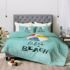 Beachy Comforters Nick Nelson Lifes A Beach Duvet Cover Deny Designs