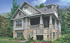 front sloping lot house plans sequoyah 6353 4 bedrooms and 3 baths the house designers