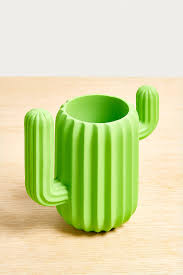 Green Table Gifts by Mustard Gifts Cactus Cup Desk Organiser Urban Outfitters