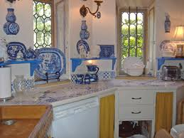 Blue And White Kitchen Fabulous Finds Gal Monet U0027s Kitchen Inspired The Electric Blue And