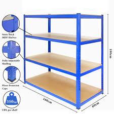 Heavy Duty Shelves by Extra Heavy Duty Shelving 4 Level Garage Steel Racking 350kg Udl