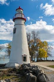 breakwater lighthouse trees lake erie picture of marblehead
