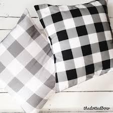 buffalo plaid throw pillows modern farmhouse home decor https
