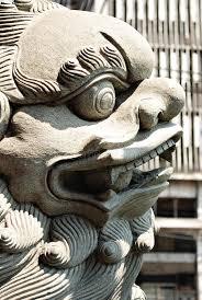 shishi statue shishi guardian lion statue details stock image image
