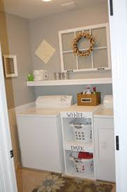 small basement ideas simple small laundry room with shelving
