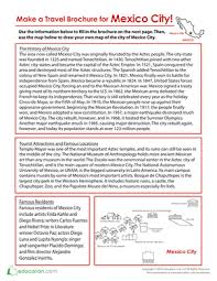 make a travel brochure for mexico city worksheet education com