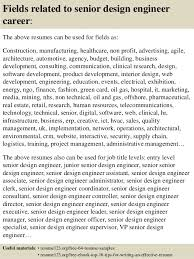 Sample Resume For Design Engineer by Top 8 Senior Design Engineer Resume Samples