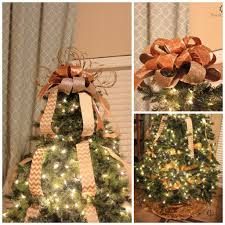 christmas tree bows decorate christmas tree tutorial with bow topper and deco