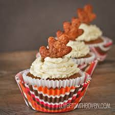 pumpkin pie cupcakes from the oven