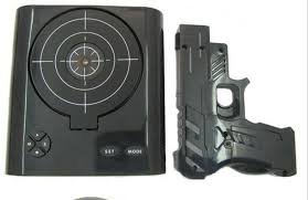gadget bureau 1 set bureau gadget cible laser de tir réveil de pistolet lcd