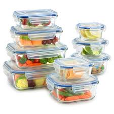 amazon com 18 piece glass food storage container set bpa free
