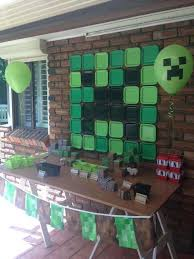 minecraft backdrop 20 birthday party ideas for boys minecraft party decorations