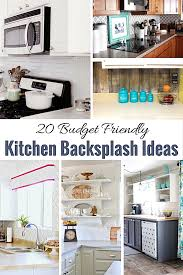 kitchen backsplash ideas on a budget 20 budget kitchen backsplash ideas shabbyfufu