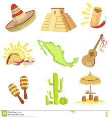 Mexico Country Map by Map Of The Country Mexican Culture Symbol Stock Vector Image