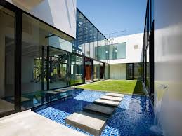 Contemporary Home Interior Design Water Feature Stepping Stones Bright Contemporary Home In Tokyo