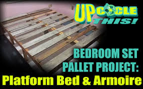 Pallet Platform Bed Upcycle This Tiny House Bedroom Set Reclaimed Wood Pallets