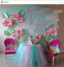 Flower Backdrop Diy Paper Flower Crafts And Projects Pink Lover