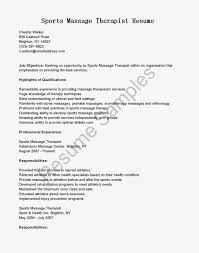 Sample Massage Therapist Resume by Radiation Therapy Resume Corpedo Com
