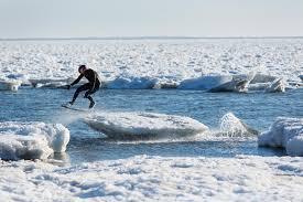 brian grubb wakeskates icebergs in cape cod ma