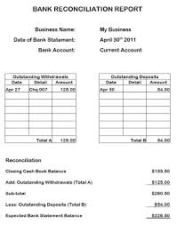 Free Bank Statement Template Excel Bank Reconciliation Form Bank Reconciliation Statement Format