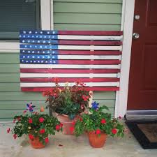 How To Paint American Flag Painted American Flag 4th Of July Craft Bexbernard