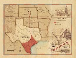 Van Texas Map Chisholm Trail The Handbook Of Texas Online Texas State